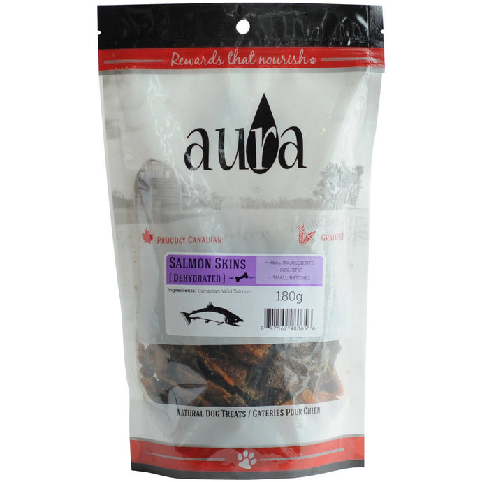 Aura Salmon Skins 180g Dog Treats