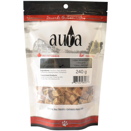 Aura Bakery Venison Bits Dog Biscuits