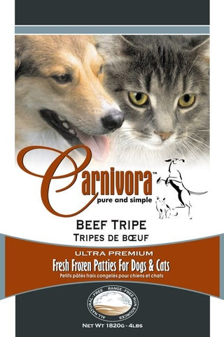 Carnivora Beef Tripe Raw Dog Food
