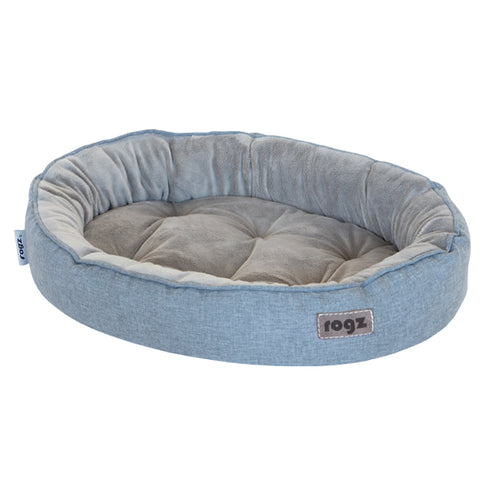 Rogz Cuddle Oval Podz Grey Pet Bed