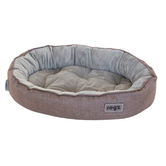 Rogz Cuddle Oval Podz Brown Pet Bed