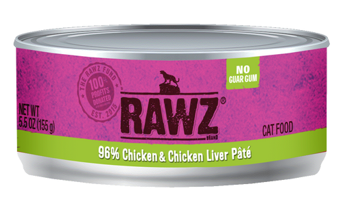 Rawz Chicken and Chicken Liver Pate Canned Cat Food