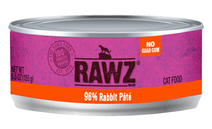 Rawz Rabbit Pate Canned Cat Food