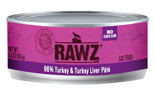 Rawz Turkey and Turkey Liver Pate Canned Cat Food