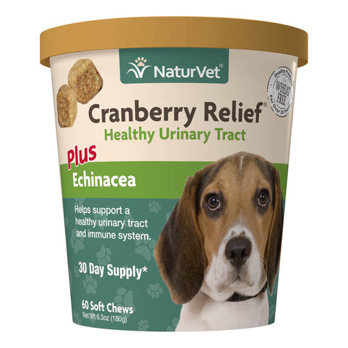 NaturVet Cranberry Relief Soft Chew Dog Supplement
