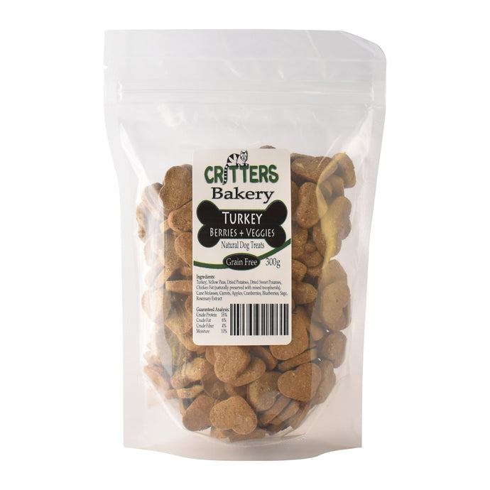 Critters Bakery 275g Turkey Dog Biscuits