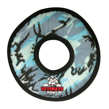 Tuffy Ultimate Rumble Ring Blue Dog Toy