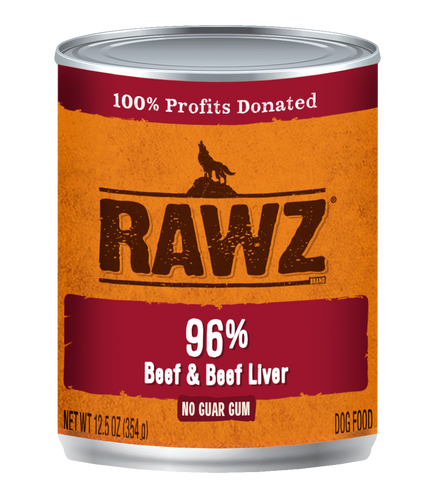 Rawz Beef and Beef Liver Canned Dog Food
