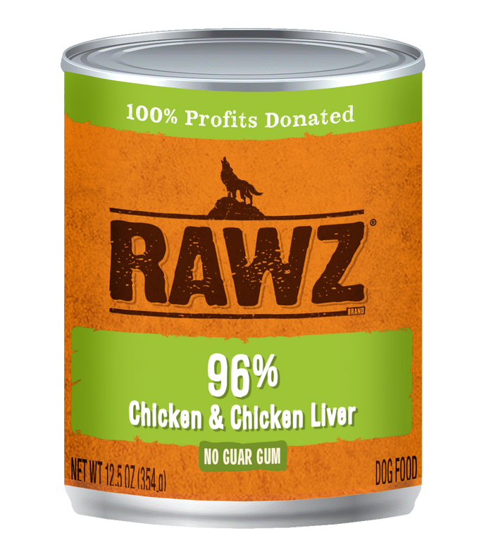 Rawz Chicken and Chicken Liver Canned Dog Food