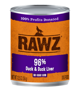 Rawz Duck and Duck Liver Canned Dog Food