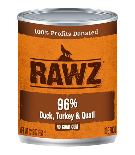 Rawz Duck, Turkey and Quail Canned Dog Food