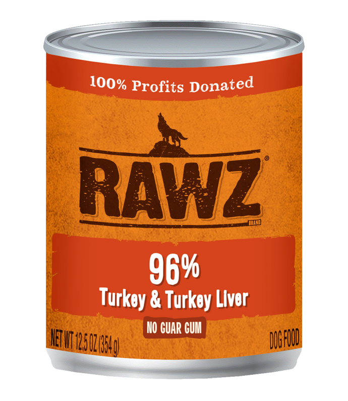 Rawz Turkey and Turkey Liver Canned Dog Food