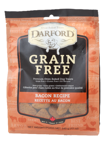 Darford Grain Free Bacon 340g Dog Biscuits