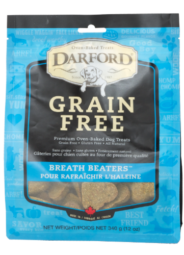 Darford Grain Free Breath Beaters 340g Dog Biscuits