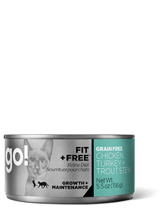 GO Fit and Free Chicken, Turkey and Trout Stew Grain Free Canned Cat Food