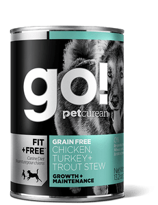 GO 374g Fit+Free Trout Stew Grain Free Canned Dog Food