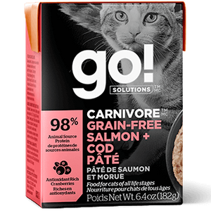 GO! Solutions Carnivore Grain Free Salmon + Cod Pate Canned Cat Food