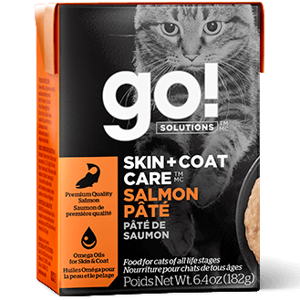 GO! Solutions Skin + Coat Care Salmon Pate Canned Cat Food