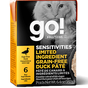 GO! Solutions Sensitivities Limited Ingredient Grain Free Duck Pate Canned Cat Food