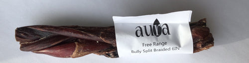 Free Range Bully Split Braided 6IN Dog Chew