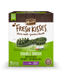 Merrick Fresh Kisses Coconut Oil Large Dental Dog Treats