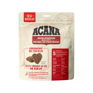Acana High Protein Crunchy Biscuits Beef Liver 255g Dog Treats