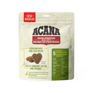 Acana High Protein Crunchy Biscuits Pork Liver 255g Dog Treats