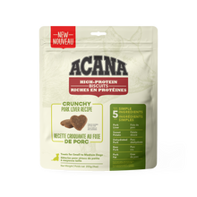 Load image into Gallery viewer, PRESALE - NEW Acana High Protein Crunchy Biscuits Pork Liver 255g Dog Treats (Ships Feb.2021)