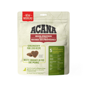 PRESALE - NEW Acana High Protein Crunchy Biscuits Pork Liver 255g Dog Treats (Ships Feb.2021)