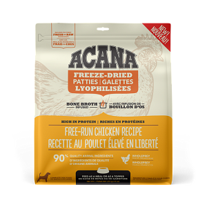 Acana Free-Run Chicken Patties 397g Freeze Dried Dog Food
