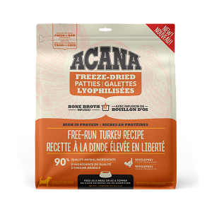 Acana Free-Run Turkey Patties 397g Freeze Dried Dog Food