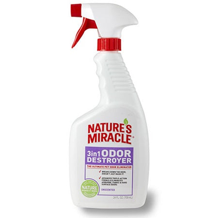 Nature's Miracle 3in1 Odour Destroyer Fresh Linen 681ml