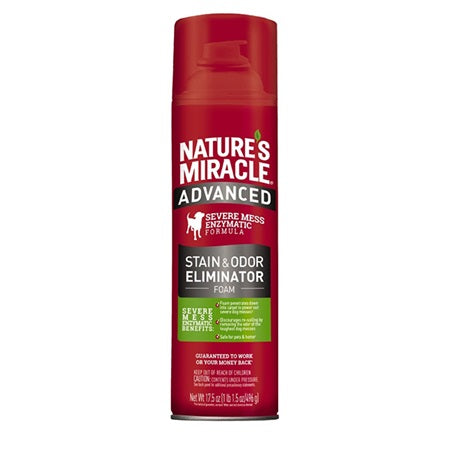 Nature's Miracle Advanced Stain and Odour Remover Foam 517ml Dog