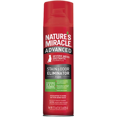 Nature's Miracle Advanced Stain and Odour Remover Foam 517ml Cat