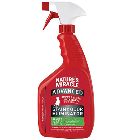 Nature's Miracle Advanced Stain and Odour Remover 946ml Cat