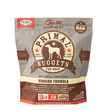 Load image into Gallery viewer, Primal Nuggets 3lbs Venison Raw Dog Food
