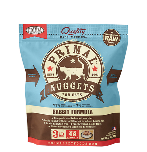 Primal Nuggets 3lbs Rabbit Raw Cat Food