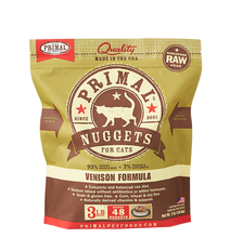 Load image into Gallery viewer, Primal Nuggets 3lbs Venison Raw Cat Food
