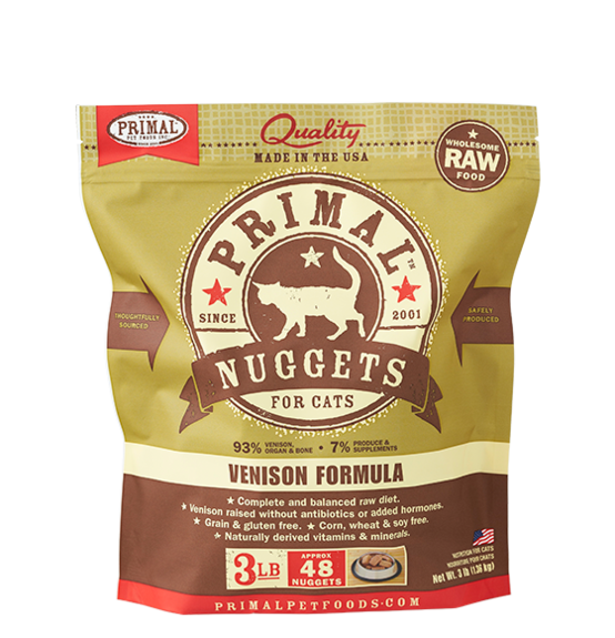 Primal Nuggets 3lbs Venison Raw Cat Food