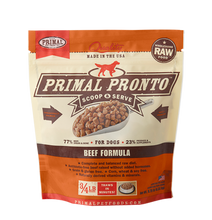 Load image into Gallery viewer, Primal Pronto 4lbs Beef Raw Dog Food