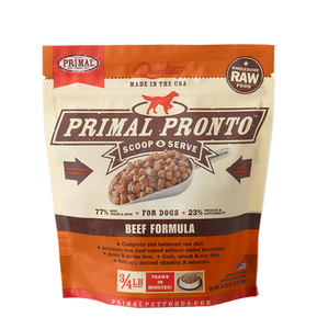 Primal Pronto 4lbs Beef Raw Dog Food