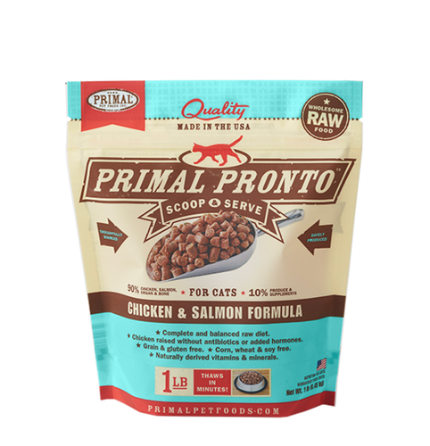 Primal Pronto 1lb Chicken & Salmon Raw Cat Food