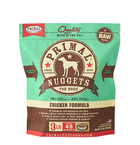 Primal Nuggets 3lbs Chicken Raw Dog Food