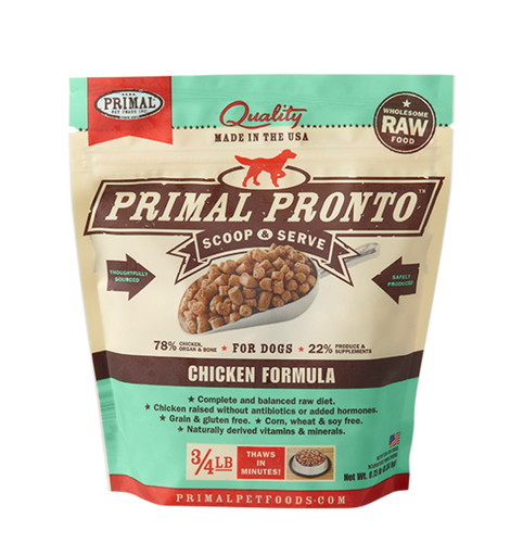 Primal Pronto 4lbs Chicken Raw Dog Food