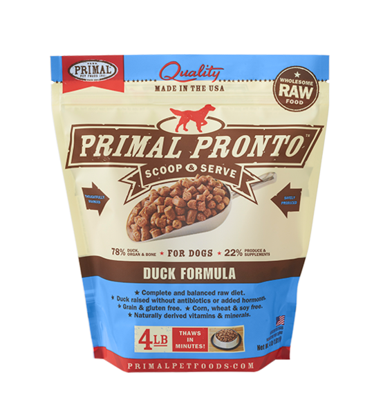 Primal Pronto 4lbs Duck Raw Dog Food