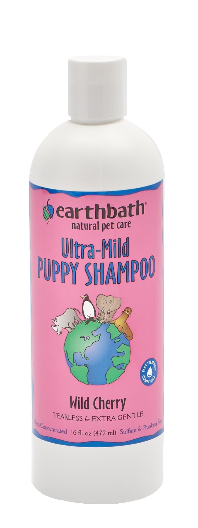 Earthbath 472ml Ultra-Mild Puppy Shampoo Wild Cherry