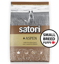 Load image into Gallery viewer, Satori Aspen Duck Small Breed Puppy Dry Dog Food