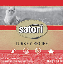 Load image into Gallery viewer, Satori Turkey Canned Cat Food