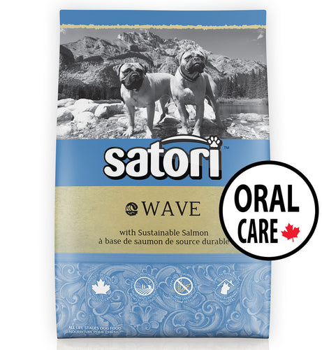Satori Wave Salmon Oral Care Dental Dry Dog Food