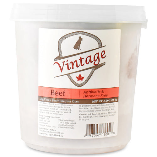 Vintage Raw 1.81kg Beef Dog Food